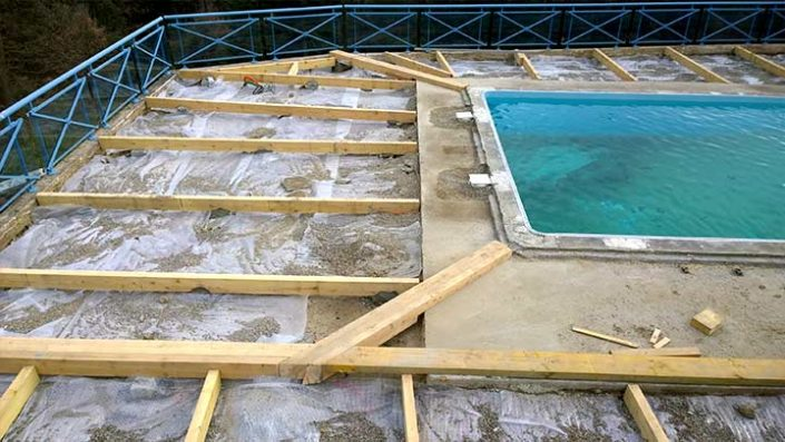 Swimming pool decking services in Hertfordshire